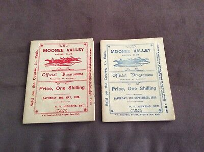 Moonee Valley Official Programme's 1926