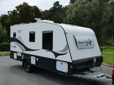 Caravan 2016 Goldstar Rv 18ft Full Ensuite WM Vic Reg ROA Isl Queen Bed 2/4Berth