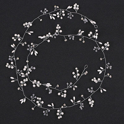 Bridal Hair Vine Wedding Hair Accessories Pearl And Crystal Bendable Headpiece