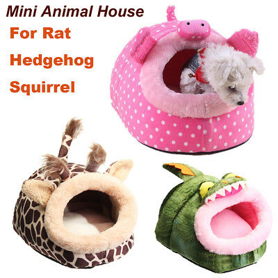 Small Animal Bed Cave Warm Nest House For Hamster Guinea Pig Squirrel Hedgehog