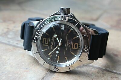 Russian Mechanical Automatic Wrist Watch VOSTOK AMPHIBIAN DIVER 120697