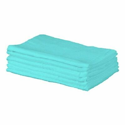Cuddles Collection 6 Muslin Squares Turquoise 1 2 3 6 12 Packs