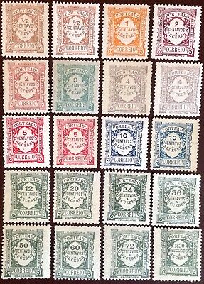Portugal 1915-22 Postage Due Issues One VFU Otherwise Superb MH