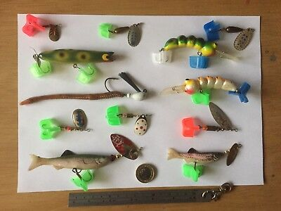 Job Lot Of Pike/Perch/Chub/Trout Lures/Spinners/Plugs Most Unused