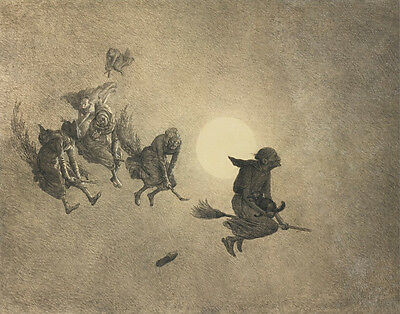 Beard Holbrook William The Witches Ride Print 11 x 14 #6334