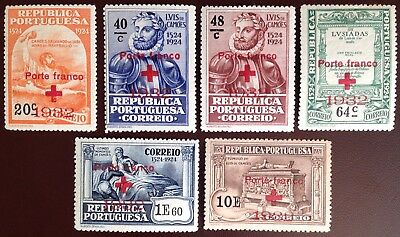 Portugal 1932 Red Cross Charity Stamps MH