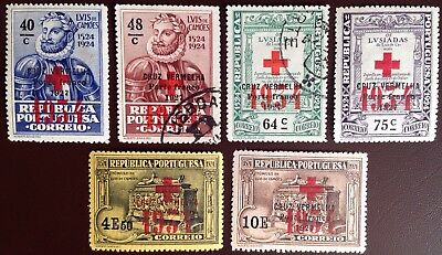 Portugal 1934 Red Cross Charity Stamps MH & FU