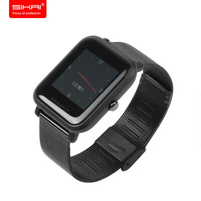 20mm Stainless Steel Watch Strap For Huami Xiaomi Amazfit Bip Lite Youth Watch