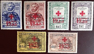 Portugal 1935 Red Cross Charity Stamps MH