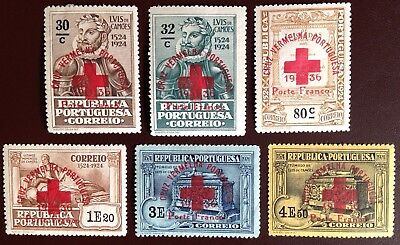 Portugal 1937 Red Cross Charity Stamps MH