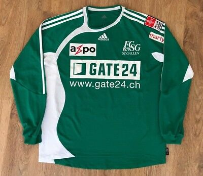 St. Gallen Switzerland  2006 - 2007 #22 Feutchine home match worn shirt size L