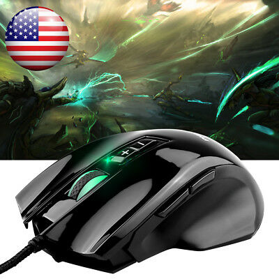 PHILIPS USB Wired Mouse 4000DPI LED Optical 8-Button Scrolling Gaming Mouse Mice