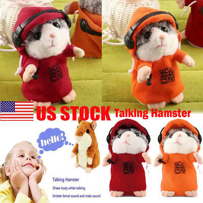 Cheeky Talking Hamster Cute Nod Mouse Speak Sound Record Pet Baby Toy Xmas Gift