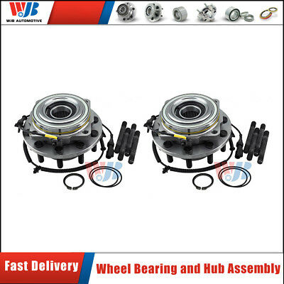 2PCS WJB Front Wheel Hubs & Bearing set pairs For Ford F-450 Super Duty 2005-10