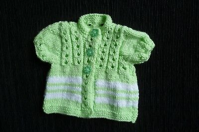 Baby clothes GIRL premature/tiny<7.5lbs/3.4kgNEW! soft SS dress-style green top