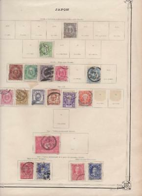 lf159 Japan 2 sides album page 66  stamps mixed condition