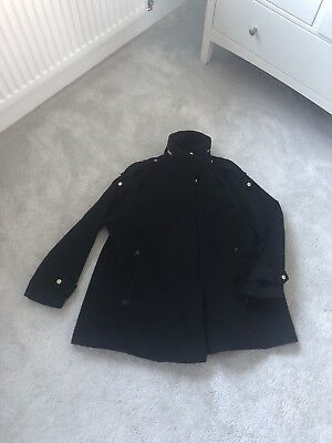 Asos maternity Winter Black Coat Size 12