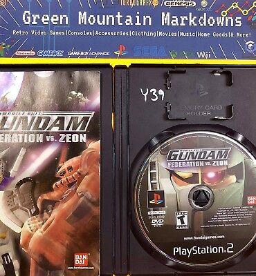 Mobile Suit Gundam: Federation vs. Zeon (Sony PlayStation 2, 2002) PS2✩TESTED!✩