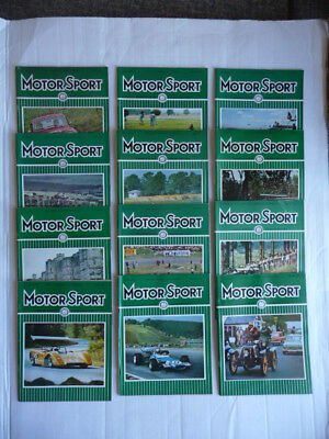 MOTOR  SPORT. Magazine. 1969 - Full Year.  12 ISSUES. Nice condition.