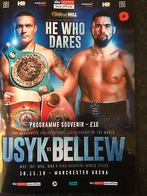 Usyk V Bellew Boxing Programme