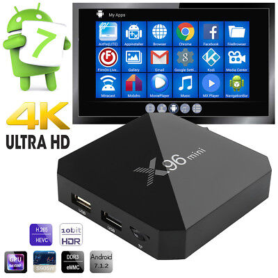 X96mini Smart Android 7.1 TV Box S905W Quad Core H.265 2GB / 16GB WiFi Media C3