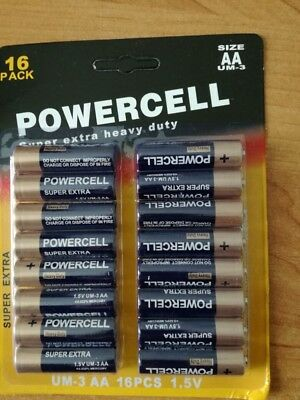 16 AA Powercell Batteries 1.5v Cheap Battery Cell Batteries Toys Calculator