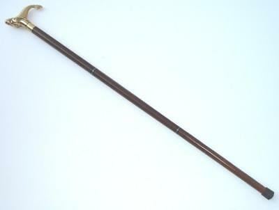 Antique/Vintage Brass head handle Victorian Look Wooden Walking Cane Stick gifts