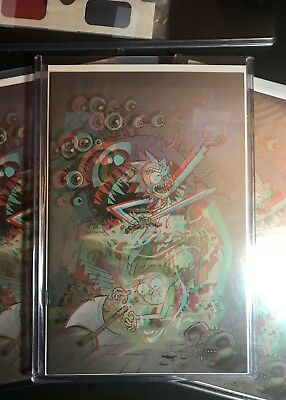 Rick and Morty vs Dungeons & Dragons #1 3-D Variant LTD 500 w/COA & Glasses! IDW