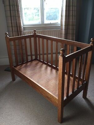 Beautiful Small Oak Day Bed / Seat/ bench/ Baby Cot (removable/ Washable Covers)
