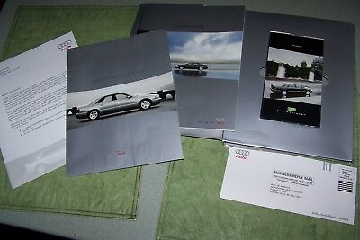 2001 Audi A8 Quattro Brochure With Sealed Vhs Tape