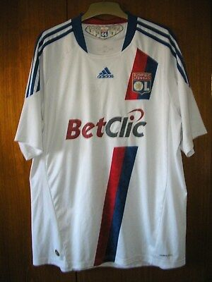 Olympique Lyonnais Football Shirt adidas Home shirt 2010 size XL 44/46
