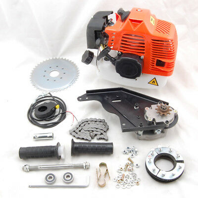 42cc 2-Stroke Rear-Wheel Side Mount Gas Motorized Bicycle Bike Engine Motor Kit