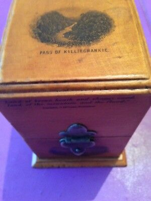 Unusual Velvet Lined Mauchline Ware Box Perfume/Ink Well??