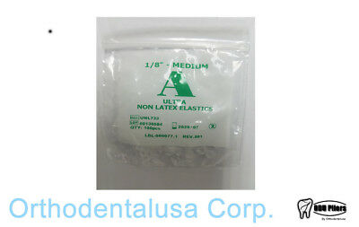 50 Pack BOX Ultra NON LATEX Intraoral Elastics 1/8 Medium 3.5 oz 100 per pack