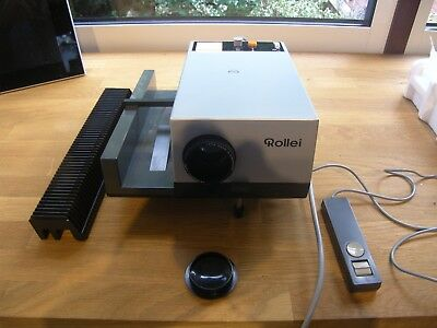 Vintage Rollei Rolleiflex P350A Projector With Leads & Remote (Tested & Working)