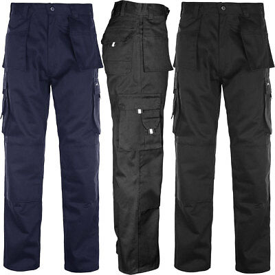 Mens Tuff Duty Cargo Combat Pants Work Wear Multi Pocket Triple Stitch Trouse...