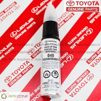 Genuine Toyota Super White Touch-Up Paint Pen 040 Oem 00258-00040-21