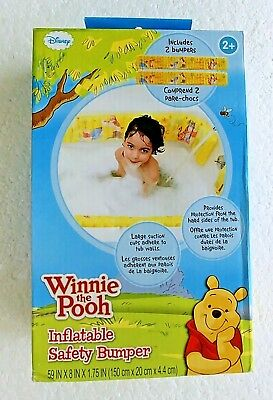 New Disney Winnie The Pooh Baby Inflatable Safety Bathtub Bumpers 2+