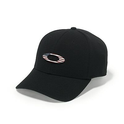 Oakley Tincan Cap Hat - Men's - Black / American Flag - Large/X-Large