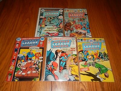 Lot Of  5 Bronze Age Comics Justice League Of America #'s 105,109,118,127,131 FN