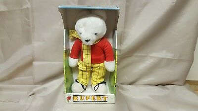 Vintage Rare 1986 Rupert The Bear Teddy Bear Boxed Daily Express Newspapers