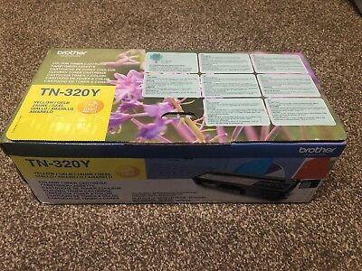 Genuine Brother TN320 Yellow toner cartridge TN-320Y 1500 pages