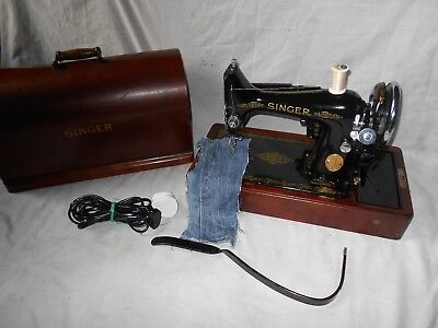Vintage Singer 99K Knee Operated Electric Sewing Machine