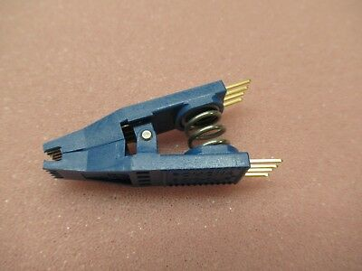 POMONA Test clip, POM-5250 SOIC PIN8 blue Row pitch10.92/6.6mm GOLD plated 5250
