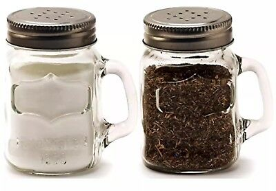 Salt and Pepper Shakers Circleware Mason Yorkshire Jar Mug 5 Ounce Set of 2