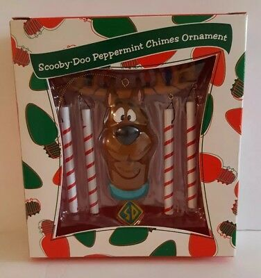 1999 Warner Bros Studio Store Scooby Doo Peppermint Chimes Ornament New in Box
