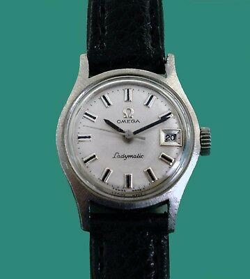 Vintage 1960's Omega Ladymatic  Ladies Automatic Date Stainless Steel Watch