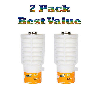 2 Pack Rubbermaid Commercial Products TCell Air Freshener Refill Citrus FG402113