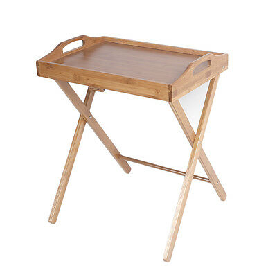 Folding Wooden Tv Tray Table Eating Snack Dinner Coffee Drink