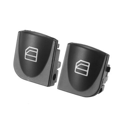2x For Mercedes W203 C-CLASS Power Window Switch Console Cover Caps C230 C240